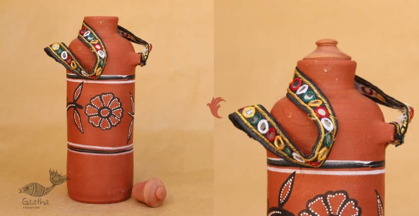 shop online clay water bottle Eco friendly