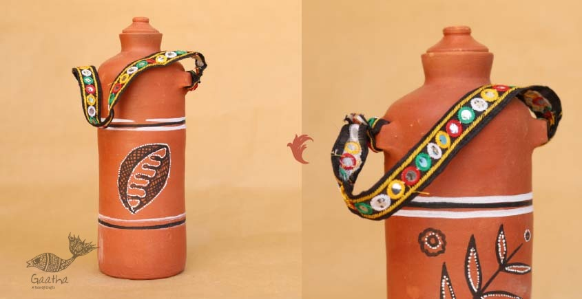 shop online clay water bottle Eco friendly