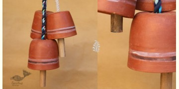 Maati Ka Kaam ● Clay Hanging Bell ( Set of three ) ● 17