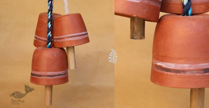 Maati Ka Kaam ● Clay Hanging Bell ( Set of three ) ● 17