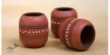 Maati Ka Kaam ● Clay Glasses ( Set of three ) ● 22