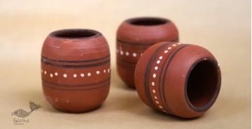 Maati Ka Kaam ● Clay Glasses ( Set of three ) ● 22