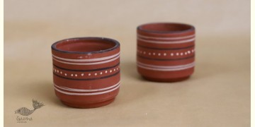 Maati Ka Kaam ● Clay Glasses ( Set of two ) ● 23