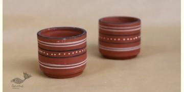 Maati Ka Kaam ● Clay Glasses ( Set of two ) ● 23