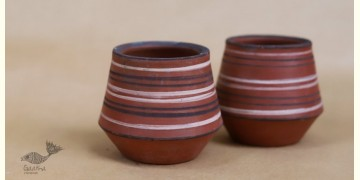 Maati Ka Kaam ● Clay Glasses ( Set of two ) ● 25