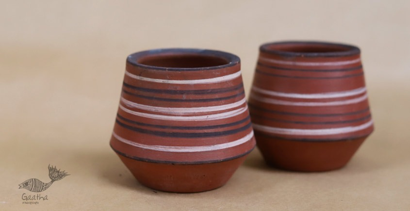 Maati Ka Kaam ● Clay Glasses ( Set of two ) ● 25
