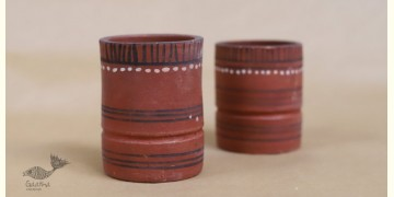 Maati Ka Kaam ● Clay Glasses ( Set of two ) ● 28
