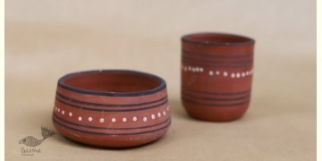 Maati Ka Kaam ● Clay Bowl & Glass ( Set of two ) ● 30