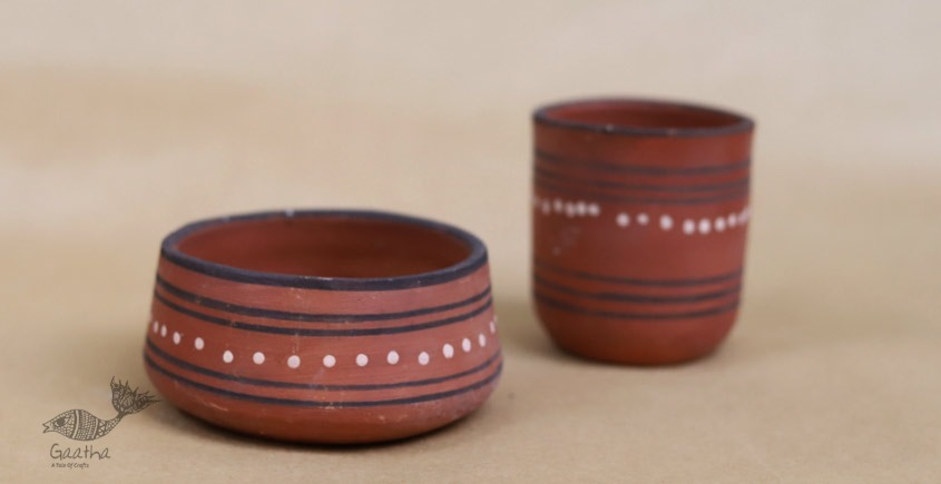 shop online Clay Bowl & Glass( Set of two )
