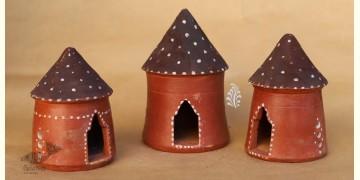Maati Ka Kaam ● Clay Bird House ( Set of three ) ● 19X