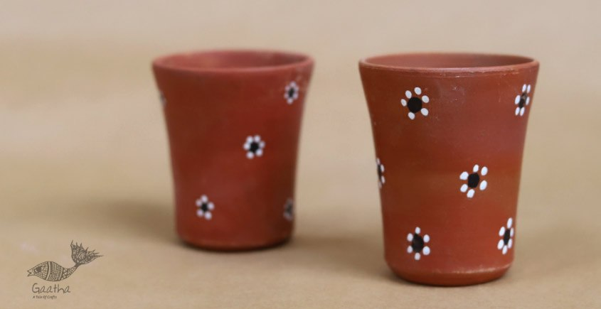 Maati Ka Kaam ● Clay Glasses ( Set of two ) ● 26
