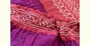 latest collection of cotton bandhni Pink-Purple sarees