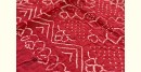 latest collection of cotton bandhni red-black sarees