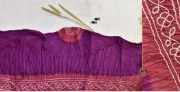 Malvika . मालविका ● Cotton Tie & Dyed Bandhani Saree ● 1