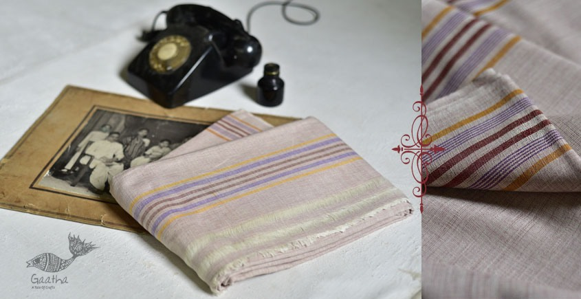 shop online handloom cotton Silk dhoti khes - handlloom cotton