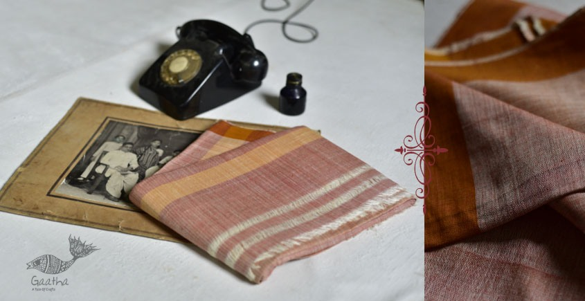 shop online handloom Cotton Silk dhoti khes - handwoven cotton