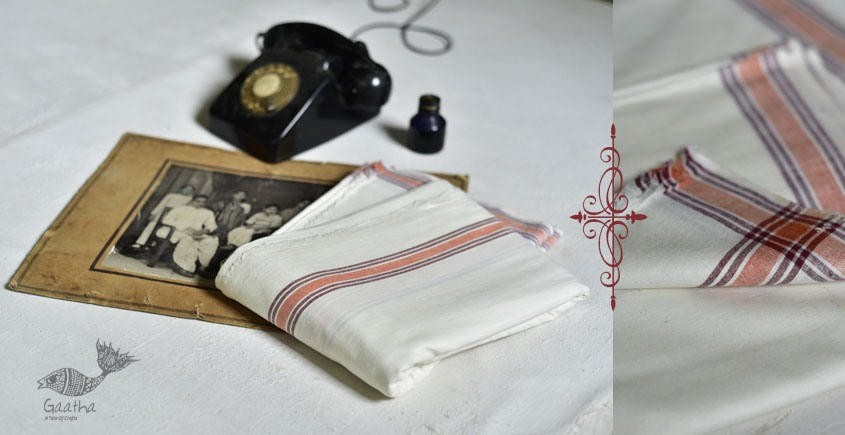 shop online handloom matkasilk dhoti khes - handlloom cotton 11
