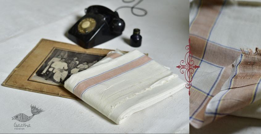 shop online handloom dhoti khes - white cotton