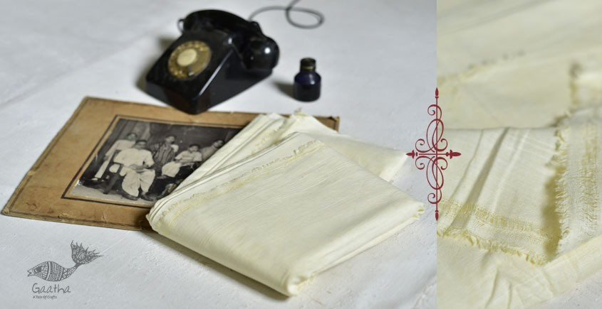 shop online handloom organic matkasilk dhoti khes - handspun hanwoven cotton 14