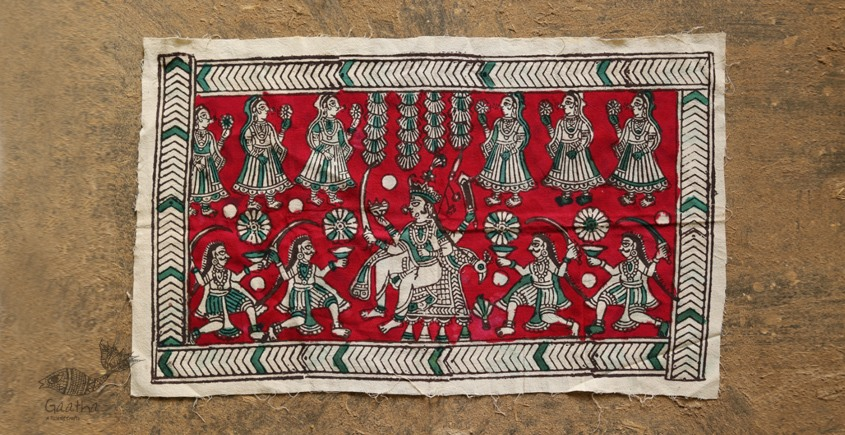 Sacred cloth of the Goddess- Bahu chara mata (26X15)