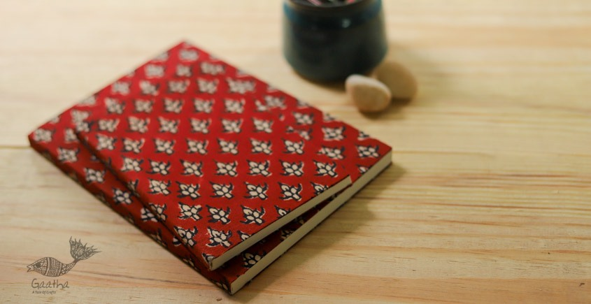 buy online Handmade Notebook / diary with Block print cotton fabric - A perfect git for your dear once