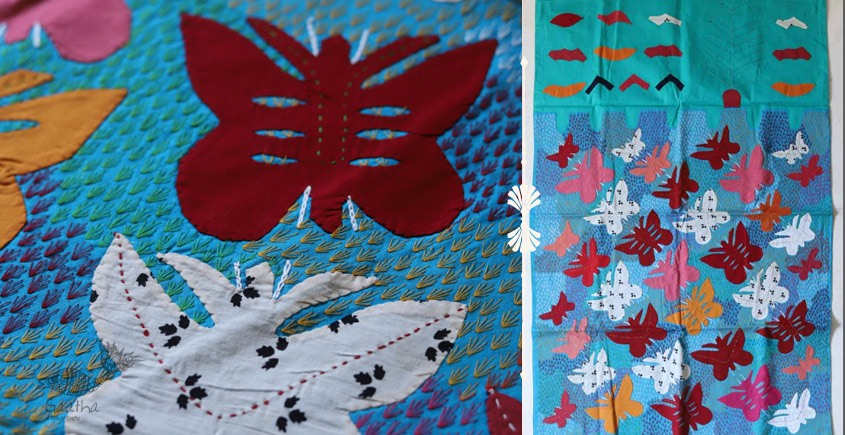 shop Hand Embroidery and Applique Work Wall Piece - butterfly