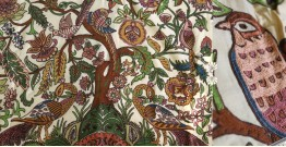 "Rural trails ⁂ Kutchi Embroidered Wall Piece ( 58"" x 44"" ) ⁂ 6"