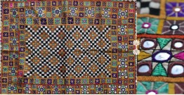 "Rural trails ⁂ Kutchi Embroidered Wall Piece ( 26"" x 33"" ) ⁂ 7"