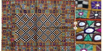 """Rural trails ⁂ Kutchi Embroidered Wall Piece ( 26"""" x 33"""" ) ⁂ 7"""
