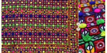 """Rural trails ⁂ Kutchi Embroidered Wall Piece ( 57"""" x 46"""" ) ⁂ 8"""