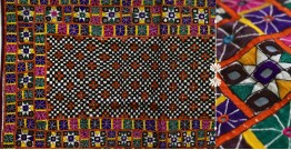 "Rural trails ⁂ Kutchi Embroidered Wall Piece ( 61"" x 31"" ) ⁂ 9"