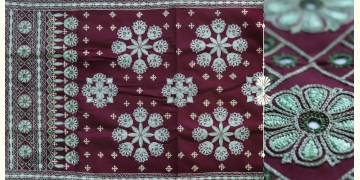 """Rural trails ⁂ Kutchi Embroidered Wall Piece ( 46"""" x 23"""" ) ⁂ 10"""