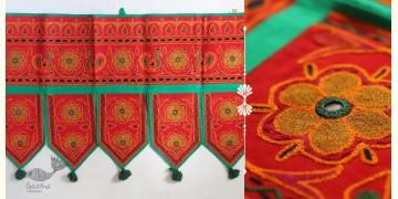 "Rural trails ⁂ Kutchi Embroidered Toran ( 38"" x 16"" ) ⁂ 13"