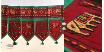 "Rural trails ⁂ Kutchi Embroidered Toran ( 38"" x 16"" ) ⁂ 14"