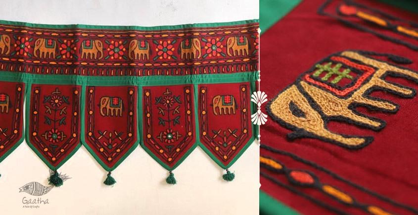Rural trails ⁂ Kutchi Embroidered Toran ( 38 x 16 ) ⁂ 14