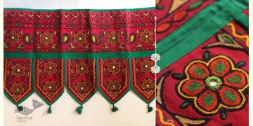 "Rural trails ⁂ Kutchi Embroidered Toran ( 38"" x 16"" ) ⁂ 15"