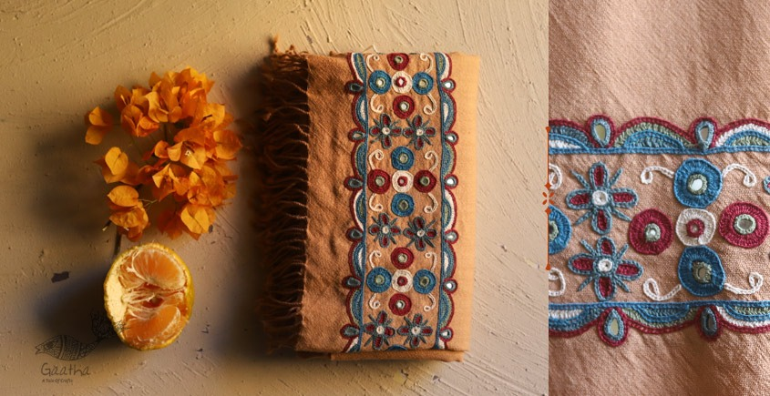 Aghan | अगहन ⁂ Aahir + Soi Embroidery ⁂ Merino Wool Shawl ⁂ 19