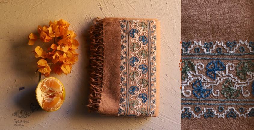 Aghan | अगहन ⁂ Aari Embroidered Merino Wool Shawl ⁂ 24