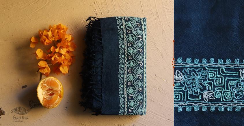 Aghan | अगहन ⁂ Aari Embroidered Merino Wool Shawl ⁂ 25