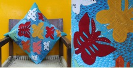 Cushioned Living ❦ Applique Cotton Cushion Cover ❦ Butterflies - 1