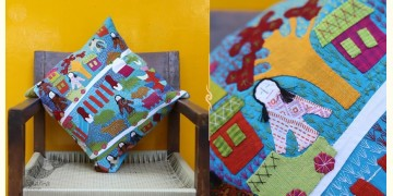 Cushioned Living ❦ Applique Cotton Cushion Cover ❦ Dolls - 3