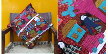 Cushioned Living ❦ Applique Cotton Cushion Cover ❦ Dolls - 6