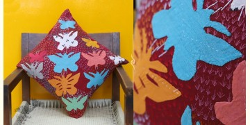 Cushioned Living ❦ Applique Cotton Cushion Cover ❦ Butterflies - 8