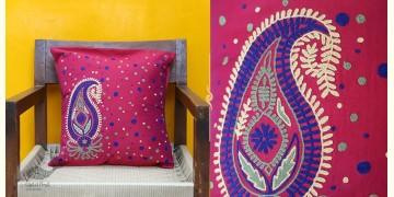 Cushioned Living ❦ Aari Embroidery ❦ Cushion Cover - 13