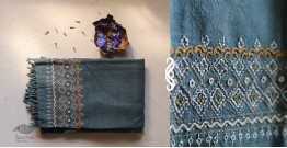 Aghan | अगहन ⁂ Khandhiro Embroidery ⁂ Merino Wool Stole ⁂ 1