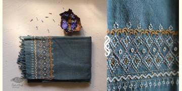 अगहन ⁂ Khandhiro Embroidery ⁂ Merino Wool Stole ⁂ 1