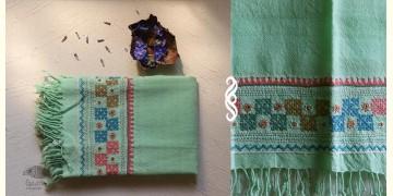 अगहन ⁂ Bavaliyo Embroidery ⁂ Merino Wool Stole ⁂ 14