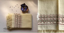 Aghan | अगहन ⁂ Khandhiro Embroidery ⁂ Merino Wool Stole ⁂ 2