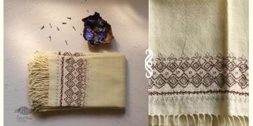 अगहन ⁂ Khandhiro Embroidery ⁂ Merino Wool Stole ⁂ 2