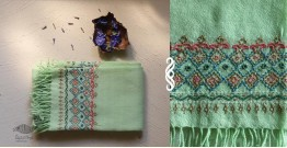 Aghan | अगहन ⁂ Khandhiro Embroidery ⁂ Merino Wool Stole ⁂ 3